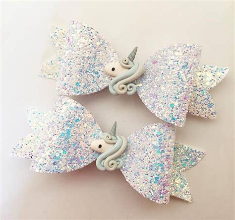 Handmade Hairbows - handmade glitter unicorn bow hair clip unicorns hair