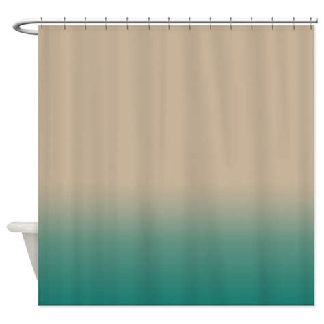Blue Green Shower Curtain by Sand And Blue Green Shower Curtain By Kinnikinnicktoo