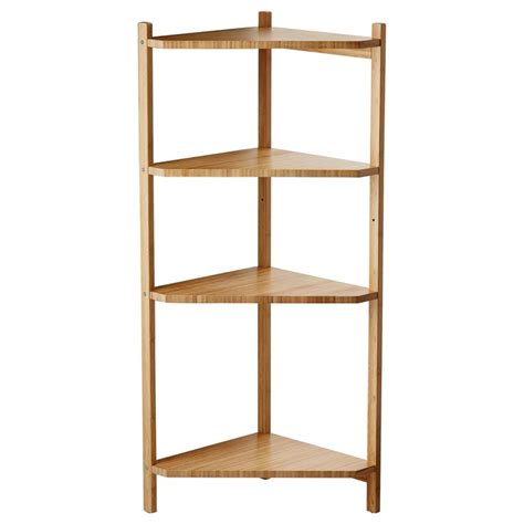 Bamboo Corner Shelf by R 197 Grund Corner Shelf Unit Bamboo
