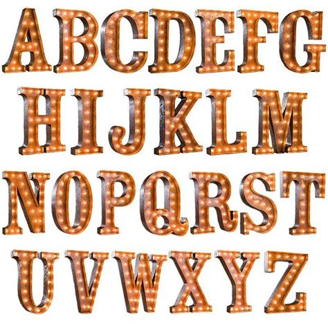 serif 2 letter word 24 quot letter from the rusty marquee