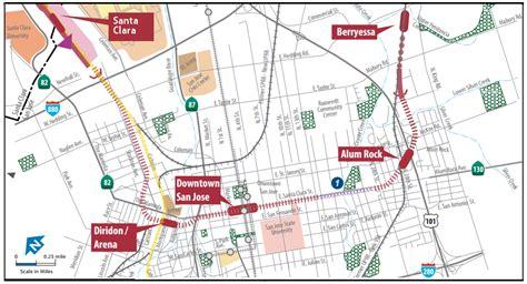 bart san jose extension map vta cuts alum rock and santa clara bart stations from