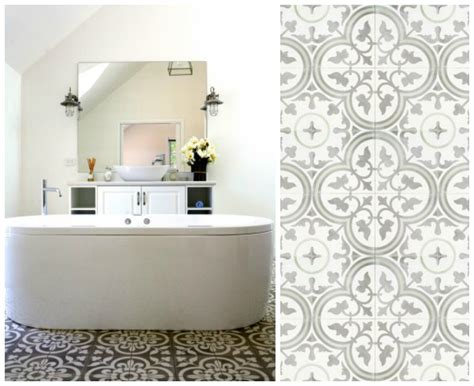 patterned tile bathroom favourite bathroom home decor diy decorator