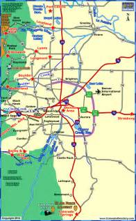colorado map denver denver map tourist attractions travel map vacations
