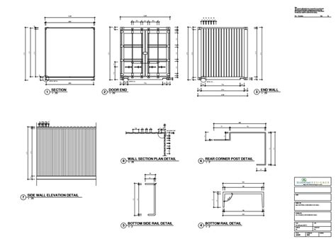 container section container drawing cargo container 03 royalty free vector