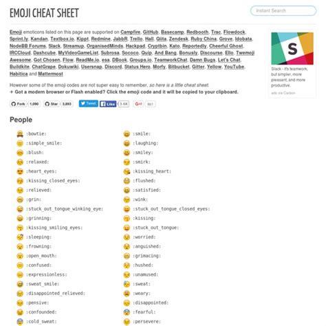 emoji github emoji cheat sheet for cfire and github pearltrees