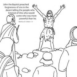 john the baptist coloring pages john the baptist creative craft card makes teaching