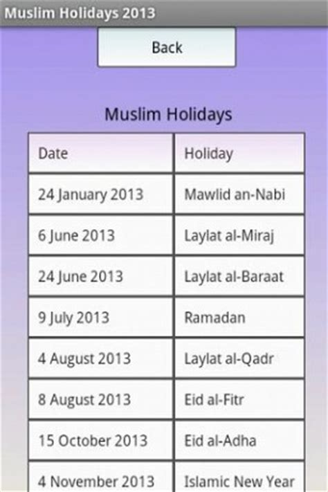 2013 calendar with islamic holidays calendar template 2016