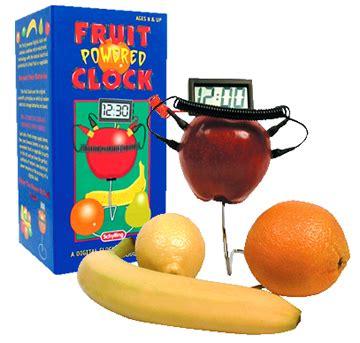 Fruit Powered Clock by Bookofjoe Fruit Powered Clock