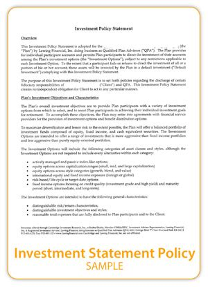 investment policy statement template investment policy statement template images templates design ideas