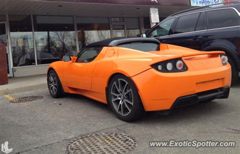 Tesla Roadster For Sale Canada Tesla Roadster Spotted In Toronto Canada On 03 31 2013