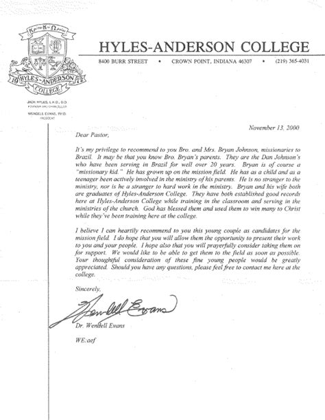 College Letter Of Recommendation From A Pastor college application recommendation letter mfawriting915