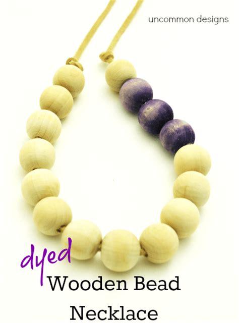 wooden bead necklace designs diy painted dip dye necklace brandywinejewelrysupply