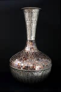 Metal And Glass Vase by Vases