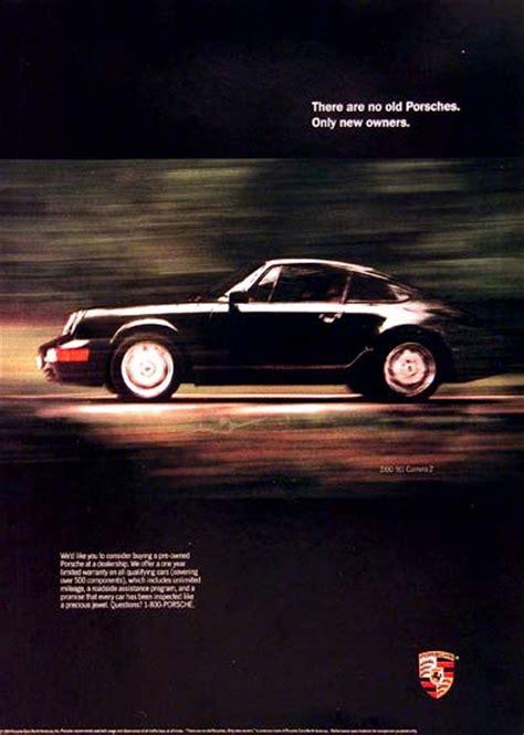vintage porsche ad 1990 porsche 911 vintage print ad