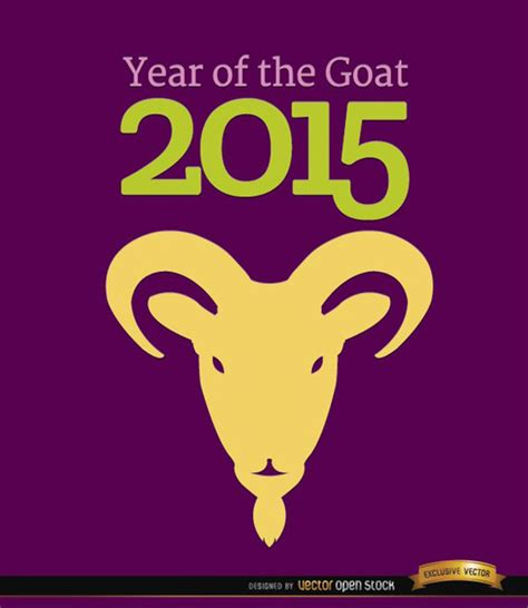new year 2015 goat new year 2015 year of the goat vector free