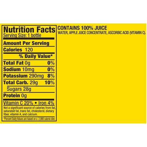 apple juice calories mott s apple juice nutrition label nutrition ftempo
