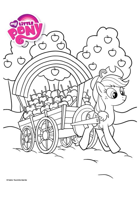 Coloriage My Little Pony Applejack Hugolescargot Com