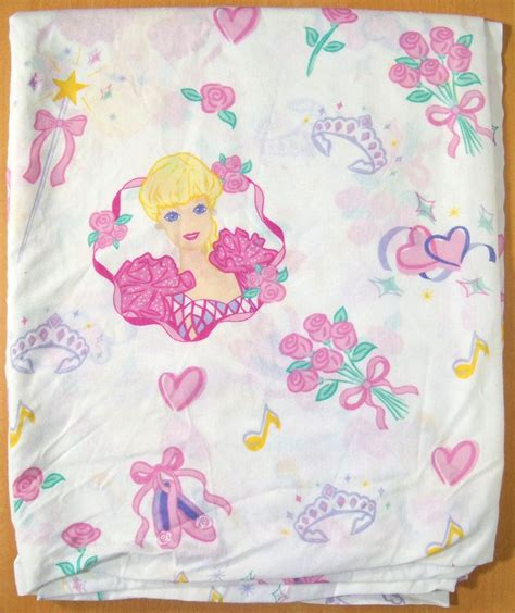 barbie printable fabric sheets 1995 barbie ballerina twin flat sheet fabric bedding