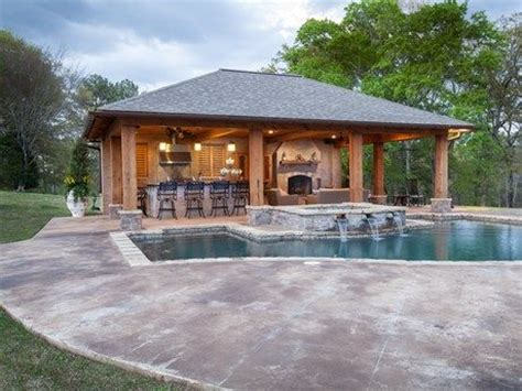 Backyard Pool House Ideas by Rustic Pool House In Mississippi Pool House Ideas For