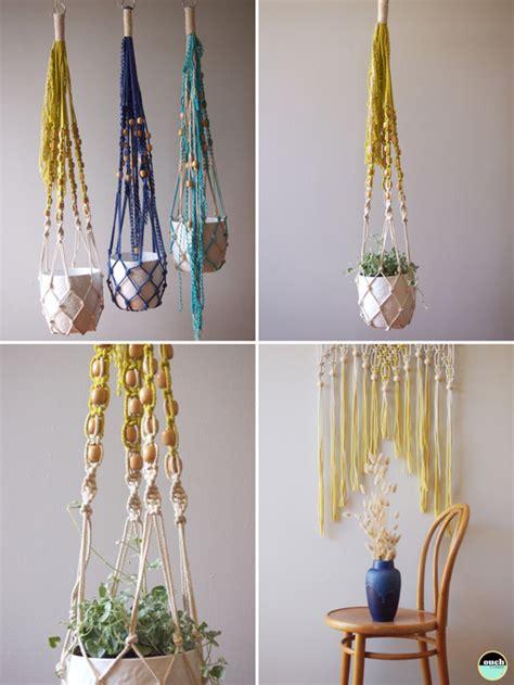 Macrame Hanging Plant - macrame plant hangers decor8