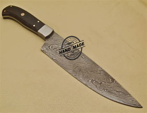 kitchen chef knives custom handmade damascus steel chef kitchen knife with