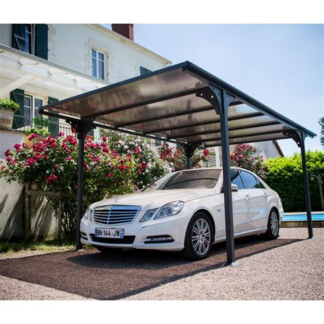 carport aluminium 2 94x5 m abrirama car3050altp abris de