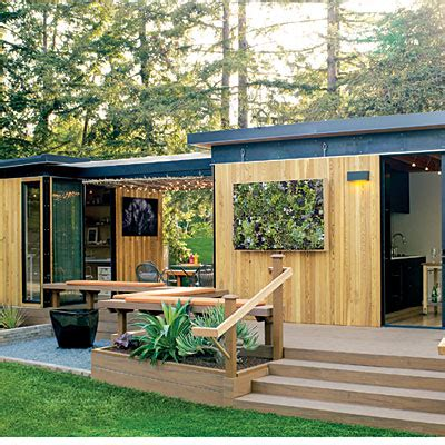 prefab backyard cottage modern cottage prefab sunset