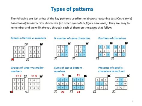 numerical pattern recognition test cute style abstract reasoning ebook sle