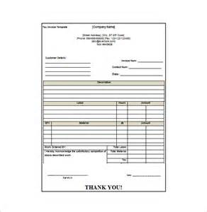Bill Receipt Template Free by Invoice Receipt Template 8 Free Word Excel Pdf Format