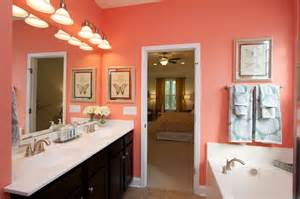 Coral Color Bathroom Decor 17 Best Images About Coral Bathroom On Pinterest
