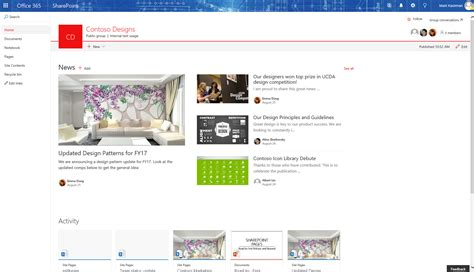 best news site update sharepoint team office groups