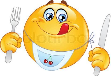 smiley kuchen hungry emoticon vektorgrafik colourbox