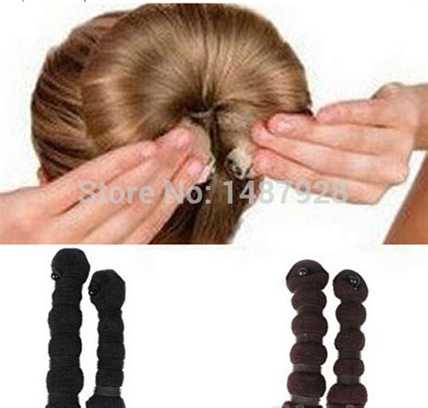 different hairstyle with a bun maker aliexpress com buy fashion hair styling elegant magic