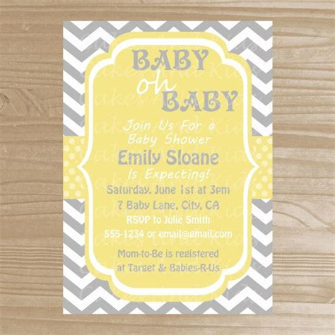 grey and yellow baby shower invites baby shower invitation grey and yellow baby shower