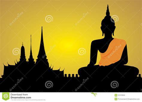 Buddha Wall Sticker silhouette of a buddha stock photo image 31019550