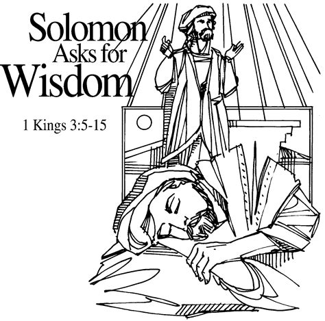 coloring page king solomon solomon asks for wisdom crafts