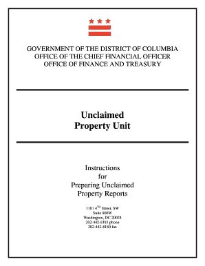 public notice unclaimed funds united states bankruptcy unclaimed property dc negative reporting up1 form fill