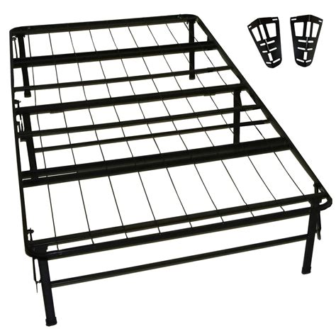 Greenhome123 Twin Xl Metal Platform Bed Frame With Bed Frame Headboard Brackets