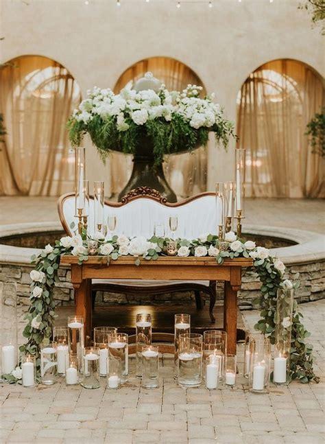 rustic country wedding sweetheart headtable ideas