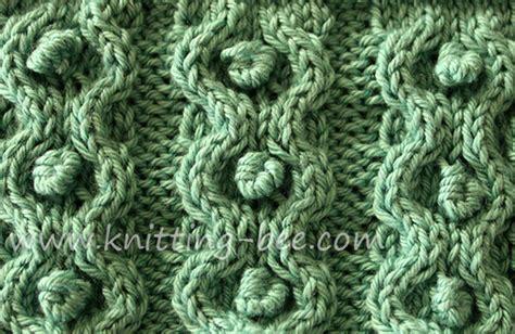 bobble stitch knit bobbles knitting bee 5 free knitting patterns