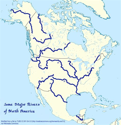 america map rivers major rivers in america