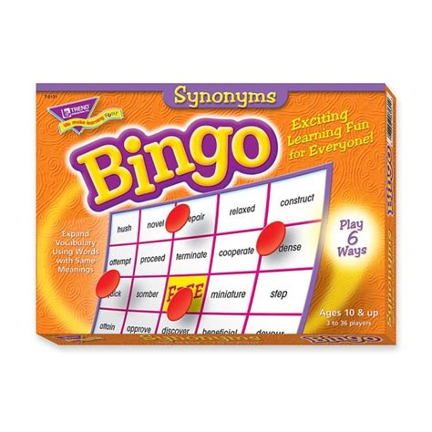 Office Supplies Synonym Trend Synonyms Bingo 1 Set Quickship