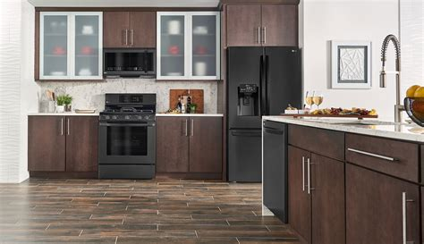 matte appliances lg matte black stainless steel embrace the dark side lg us