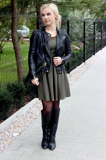 Jaket Black Biker Leather Exklusif Sk 62 ariadna majewska romwe flared dress mart of china black sandals handmade by me