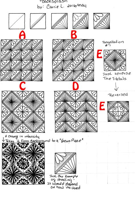 how to draw a tangle doodle part 2 how to create a tangle pattern step out part 2 pattern