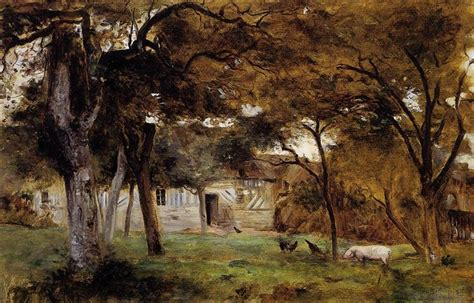 normandy farm trees farm in normandy 1859 1860 berthe morisot wikiart org