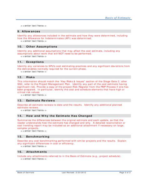 cost estimate template driverlayer search engine cost estimate template driverlayer search engine