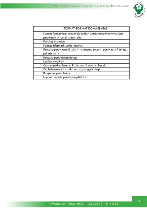 format naratif adalah dokumentasi keperawatan pada tatanan pelayanan kesehetan
