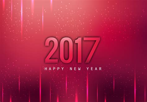 glowing 2017 happy new year card download free vector