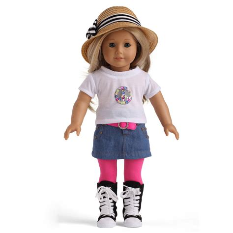 American Doll L by Free Shipping High Quality Fashion 18 Inch American Doll